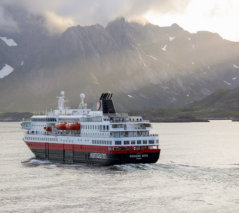 Hurtigruten's MS Richard With in Norway's Lofoten Islands