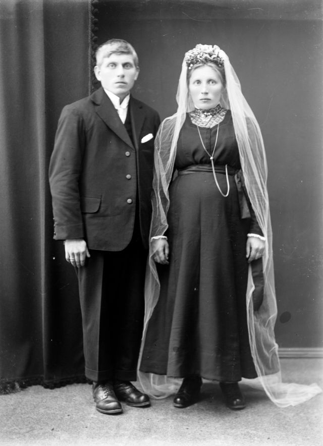 A newly married couple in western Norway in 1900