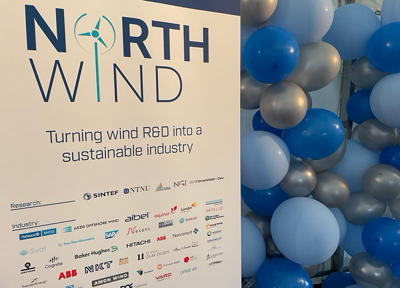 NorthWind banner and balloons