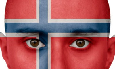 Norway face flag