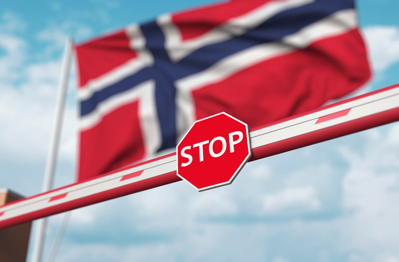 Norway travel ban at airports