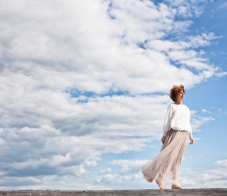 sissel against clouds