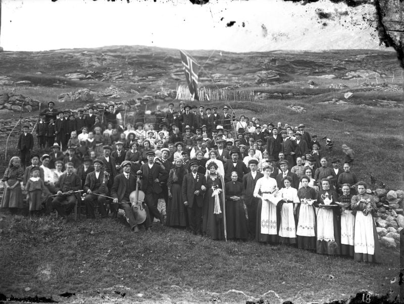 A 1900s wedding in Sogn og Fjordane county in western Norway