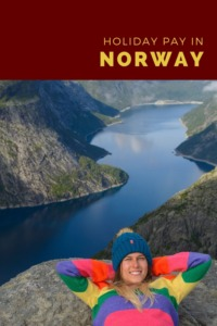 Holiday pay in Norway pin