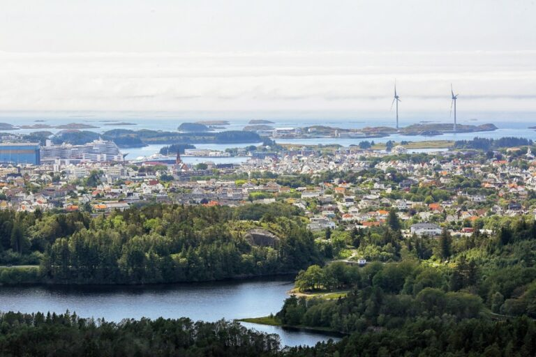 Skyline of Haugesund, Norway