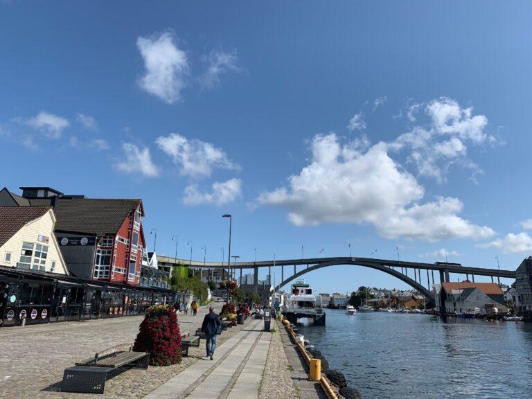 Central Haugesund waterfront and bridge