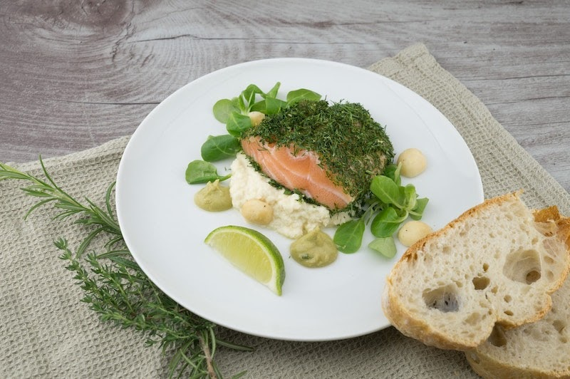 Norwegian salmon and dill