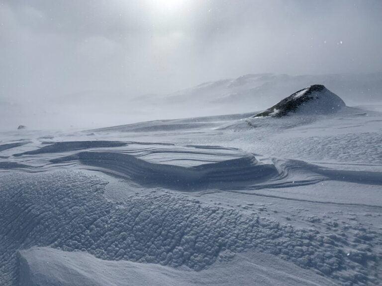 A winter landscape in Finse, Norway