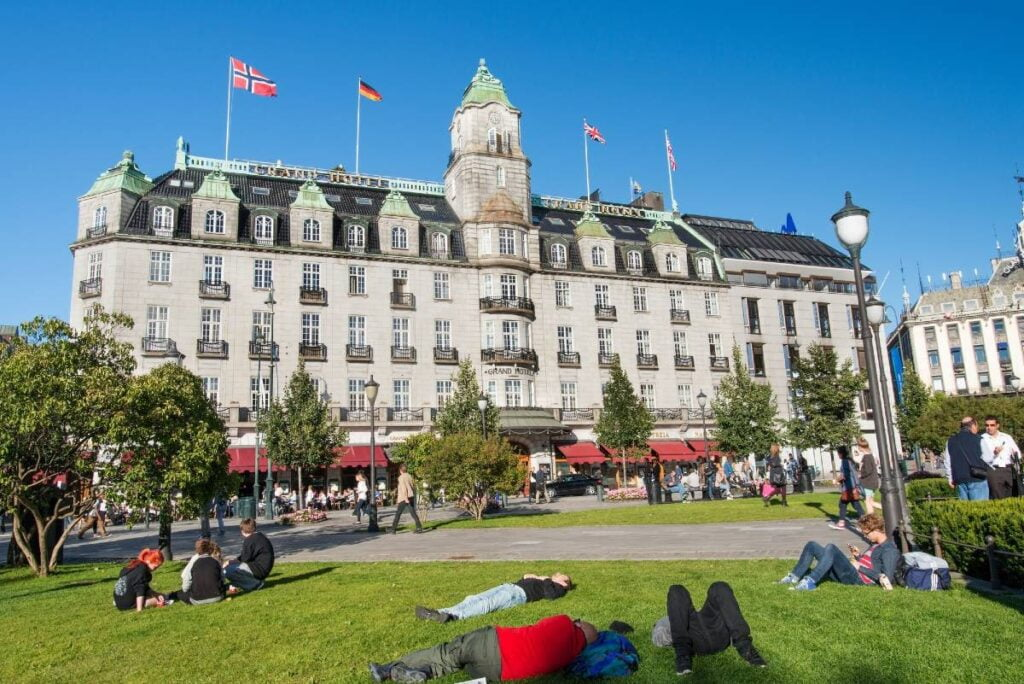 Grand Hotel in downtown Oslo, Norway