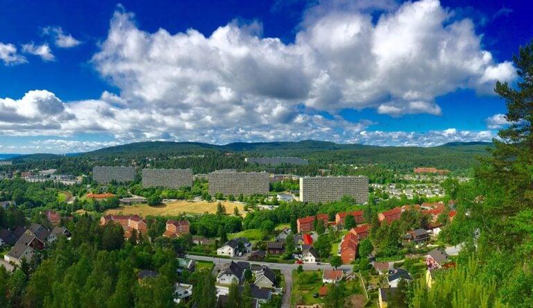 Grorud district in eastern Oslo