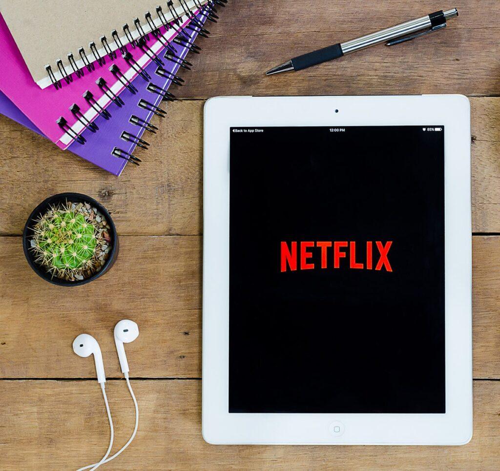 Netflix on a tablet computer