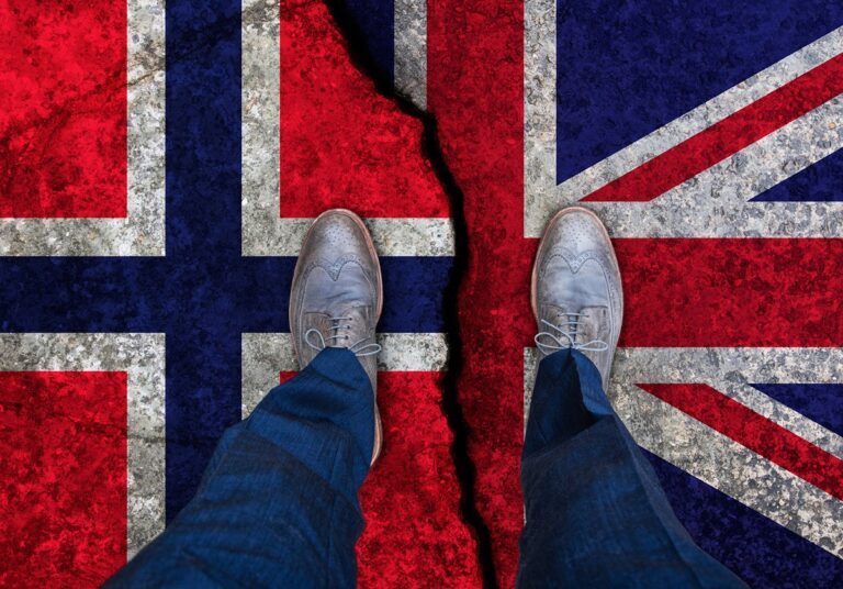 norway uk brexit concept