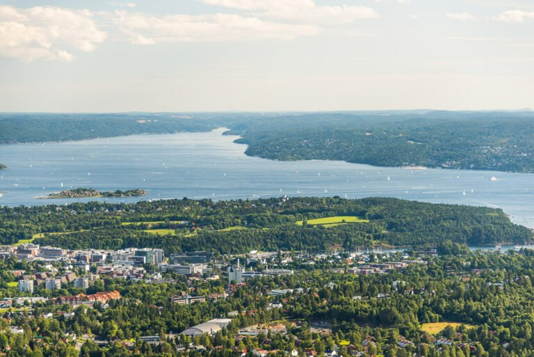 A panorama of the green city of Oslo, Norway
