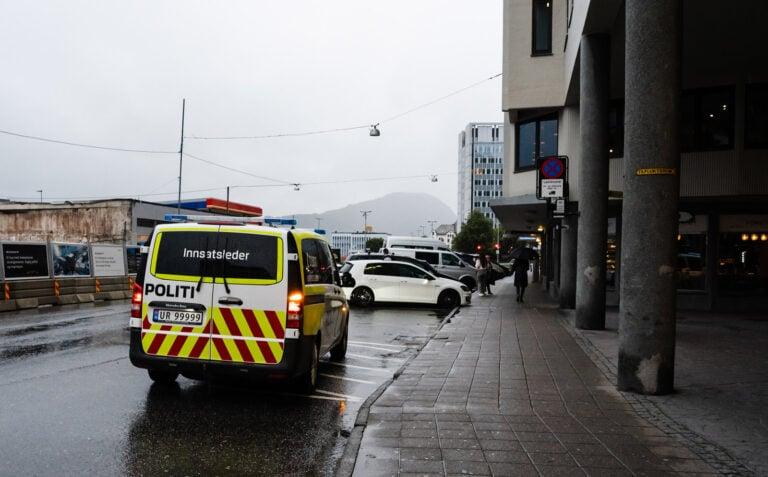 A Norwegian police car in Aalesund, Norway