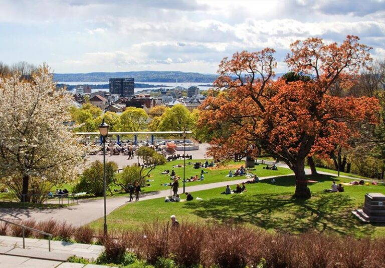 St. Hanshaugen Park in Oslo, Norway