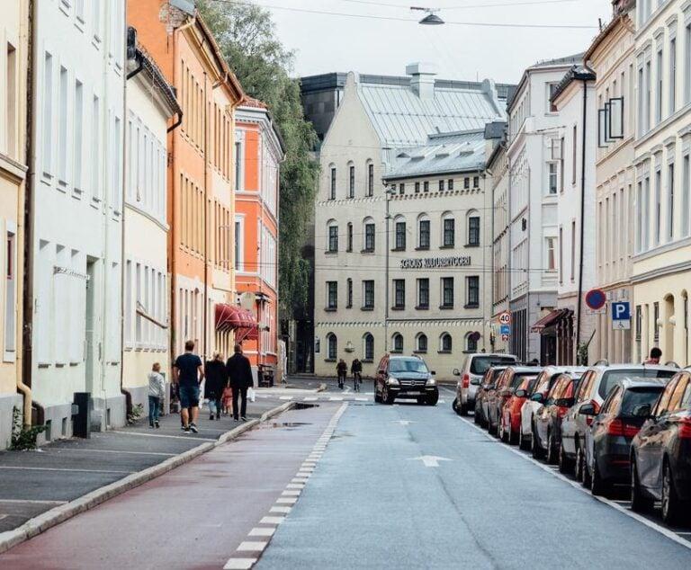 A street scene in Grünerløkka, Oslo