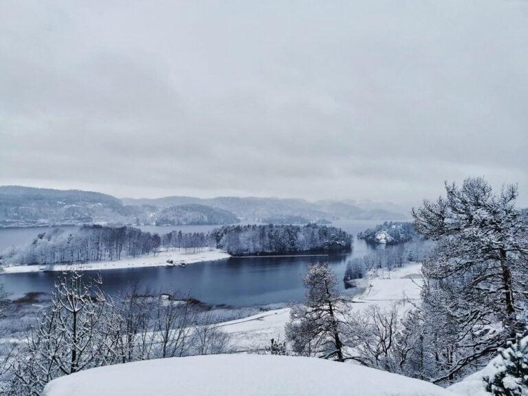 A winter scene in Larvik, Norway