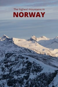 Norway Mountains pin