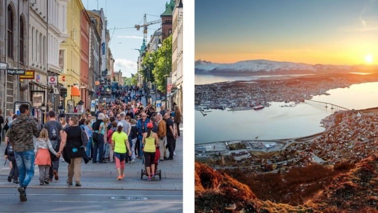 Photos from Oslo and Tromsø in Norway.