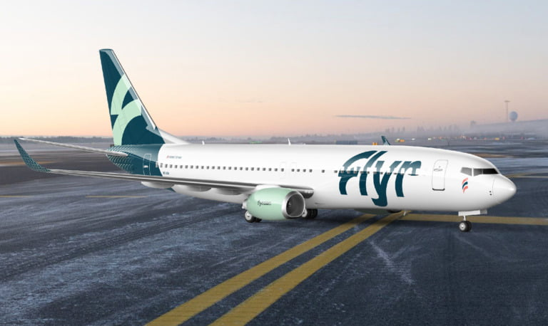 Flyr chose Boeing 737-800. Pictured here with new airline livery.