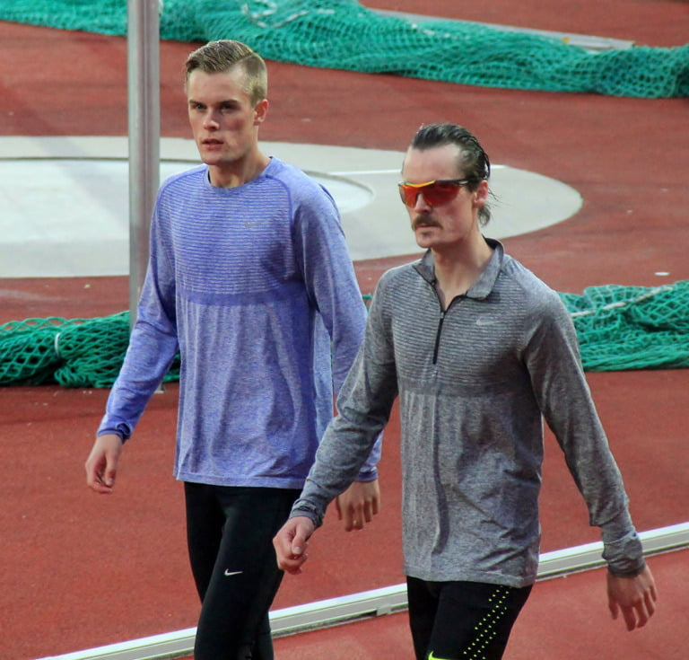 Filip and Henrik Ingebrigtsen at the 2016 Bislett Games in Oslo, Norway