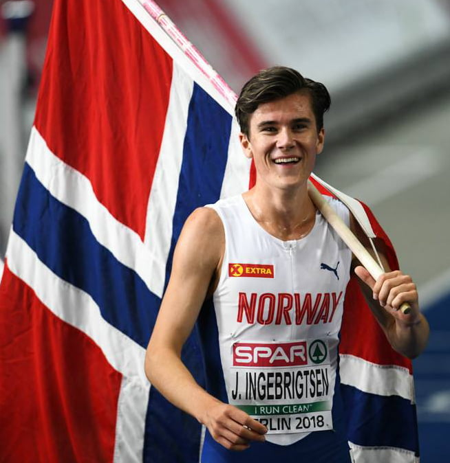 Jakob Ingebrigtsen at the 2018 European Athletics Championships