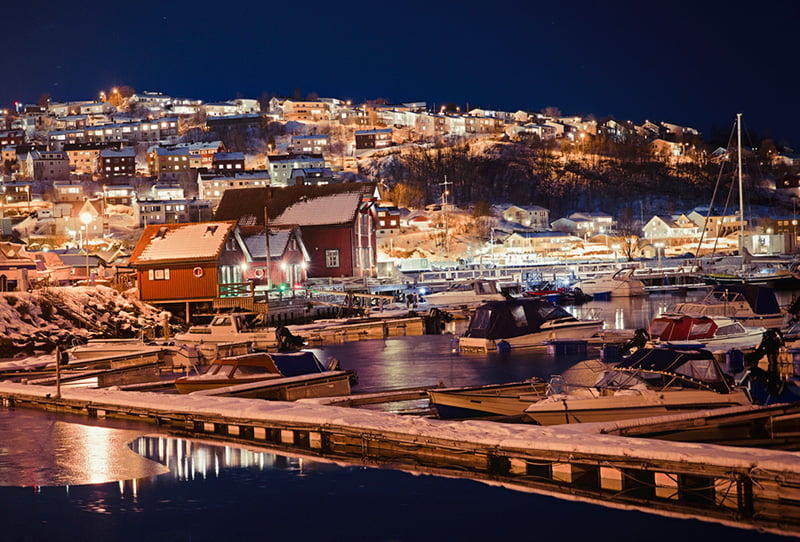The harbour of Narvik in Northern Norway