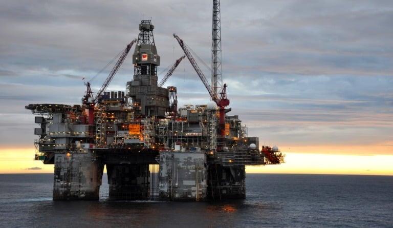 Norway oil rig at sea