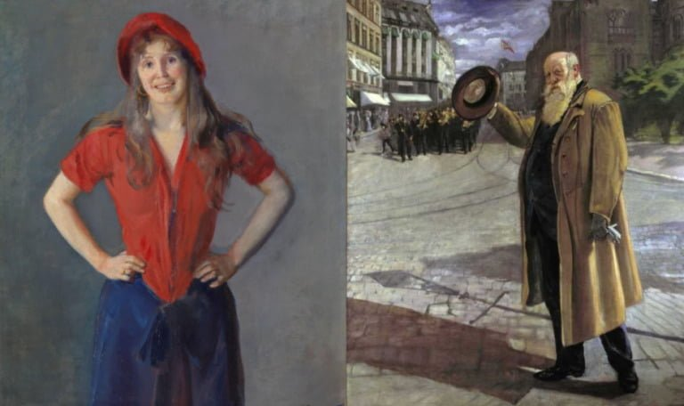 Work of famous Norwegian artist Christian Krohg.