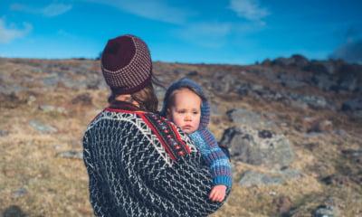 Norwegian baby in nature
