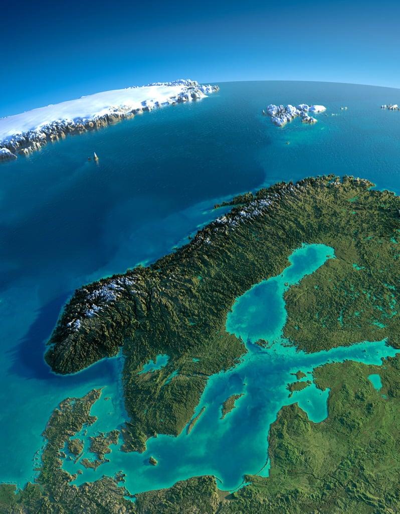 Scandinavian satellite illustration