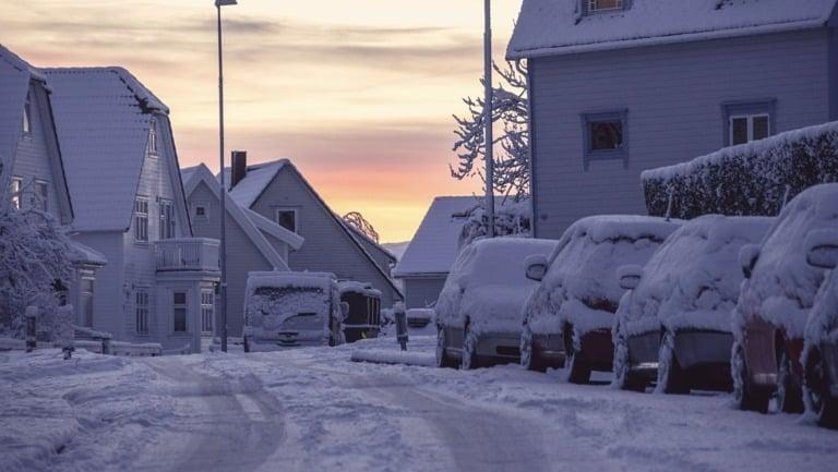 Snowy Stavanger, Norway