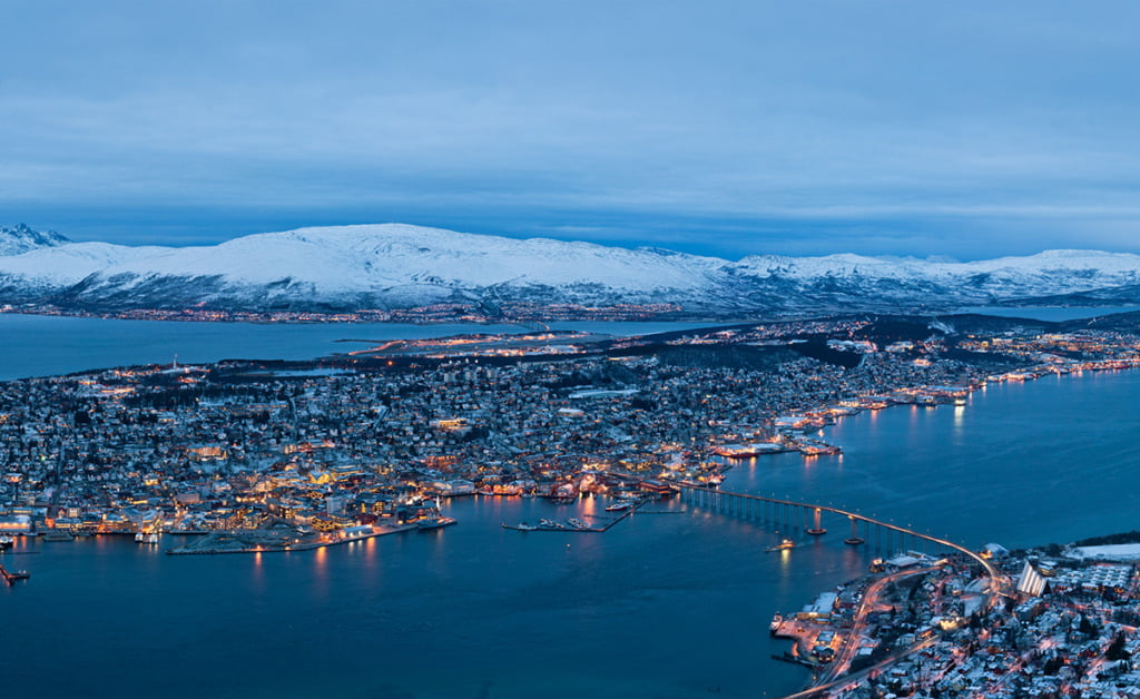 Northern Norway's Tromsø in blue light
