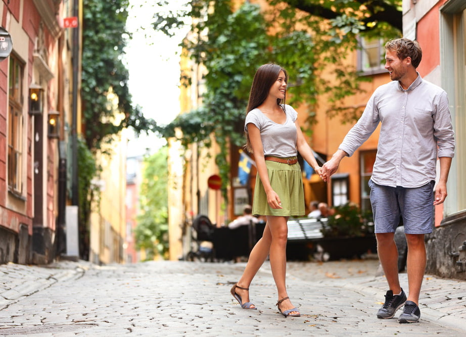 A young couple in Stockholm, Sweden