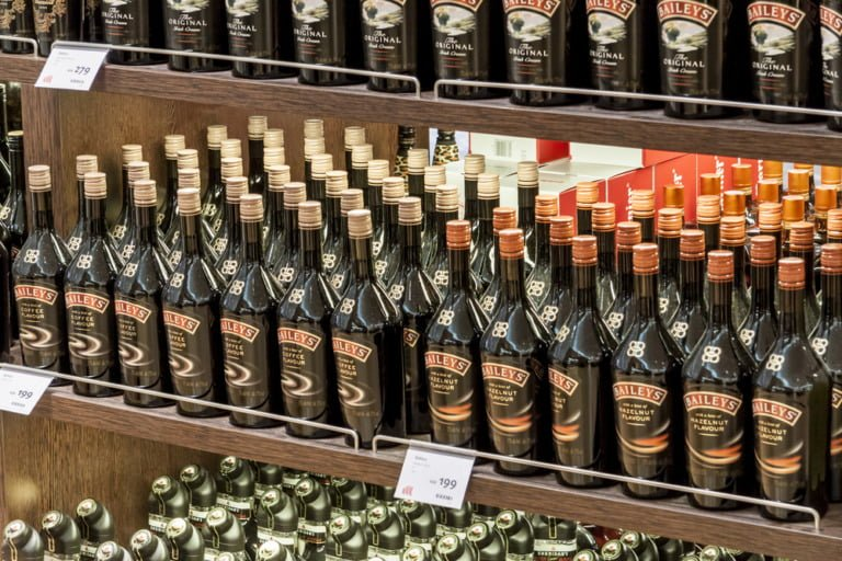 Duty-free alcohol shopping at Oslo Airport in Norway