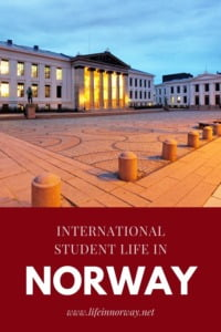 International student life in Norway pin