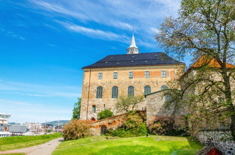 Oslo's Akershus Castle and side wall