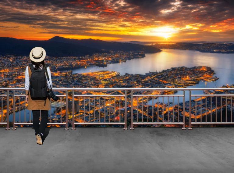 Asian immigrant in Bergen, Norway