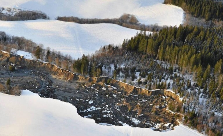 The 2012 landslide in Byneset, Trondheim
