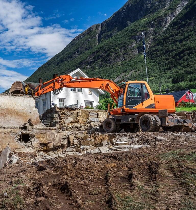 Construction workers in rural Norway