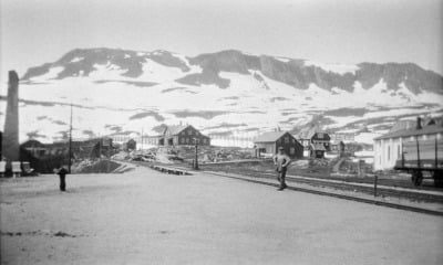 Finse railway station on the Bergen railway