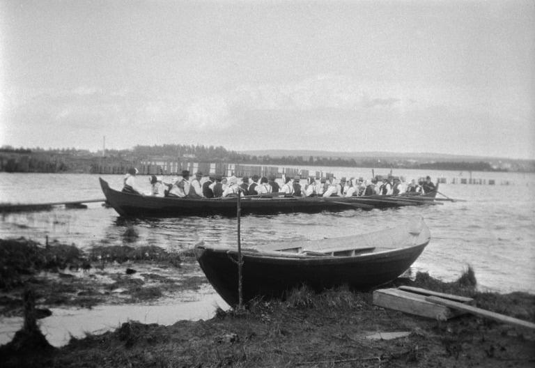 The Sollerön island church boat in Sweden.