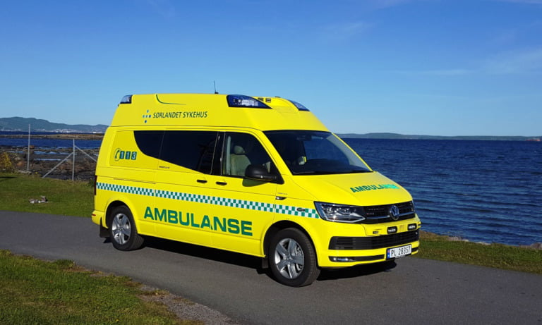 A new Norwegian ambulance in the south of Norway