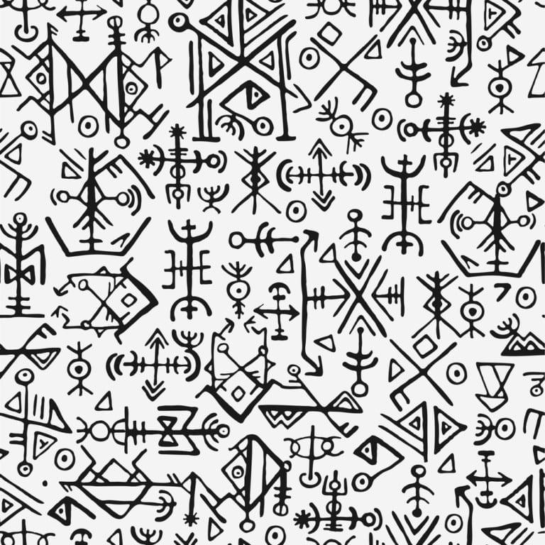 Norse futhark pattern