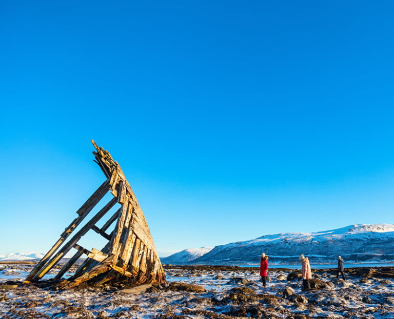 A Norwegian family on the coast of Northern Norway