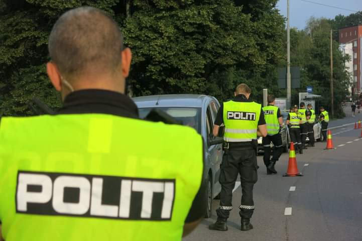 Norwegian police officers at work