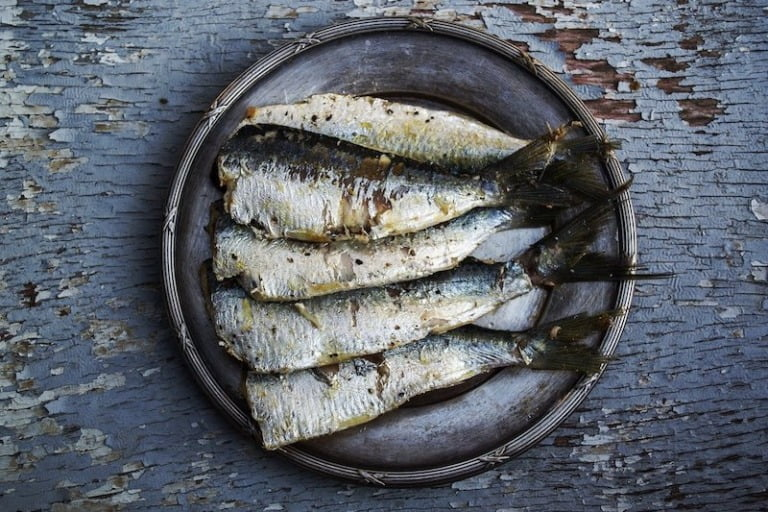 Simple fish dish served on a plate