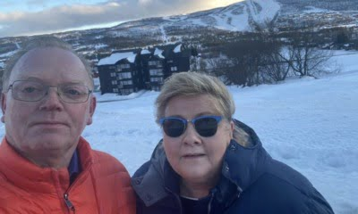 Erna Solberg on winter holiday vacation