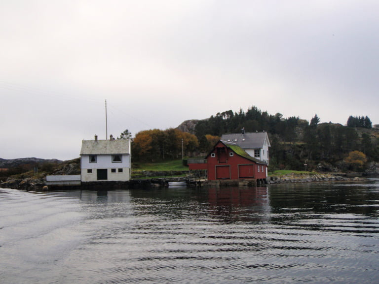 View of the coastal area near Telavåg, Norway