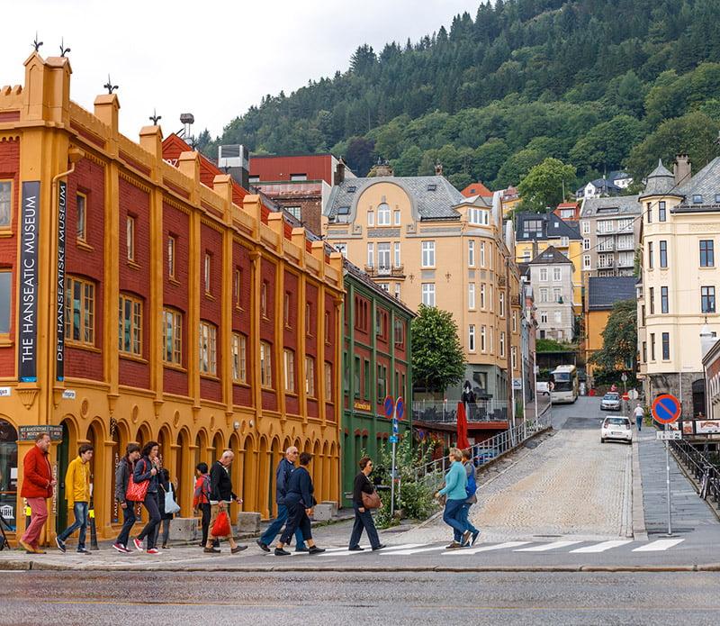 A street scene in Bergen, Norway